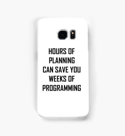 Plan your programming 2.0 Samsung Galaxy Case/Skin