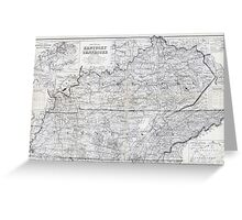 ca. 1870 Kentucky & Tennessee Map Greeting Card