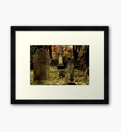 Cemetary in Michigan Framed Print