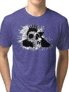 Crow Cracks The Cranium part 2 Tri-blend T-Shirt