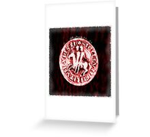 Seal of the Knights Templar by Pierre Blanchard Greeting Card