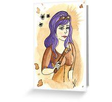 Steampunk Gunslinger Greeting Card