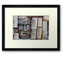Tiki & Cork Framed Print