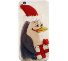 Xmas penguin iPhone Case/Skin