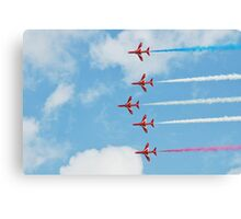 The Red Arrows team Canvas Print