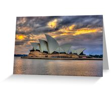 Sunrise Symphony - Sydney Harbour -30 exposures The HDR Experience Greeting Card