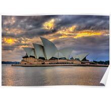 Sunrise Symphony - Sydney Harbour -30 exposures The HDR Experience Poster