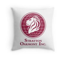 The Wolf of Wall Street Stratton Oakmont Inc. Scorsese (in burgundy) Throw Pillow