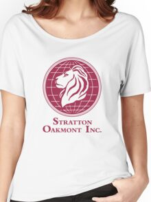 The Wolf of Wall Street Stratton Oakmont Inc. Scorsese (in burgundy) Women's Relaxed Fit T-Shirt