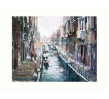 Venise ,apres la pluie Art Print
