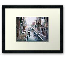 Venise ,apres la pluie Framed Print