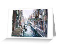 Venise ,apres la pluie Greeting Card