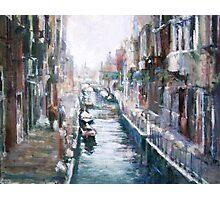 Venise ,apres la pluie Photographic Print