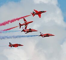 Red Arrows formation by David Fowler