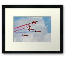 Red Arrows formation Framed Print