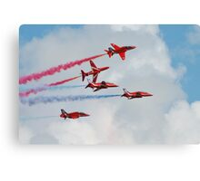 Red Arrows formation Canvas Print