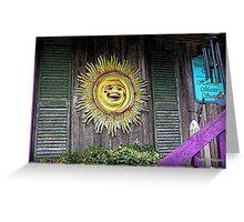 Old Sol in Cedar Key Greeting Card