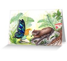 The fairy and the bat Greeting Card