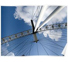 London Eye from below in colour Poster