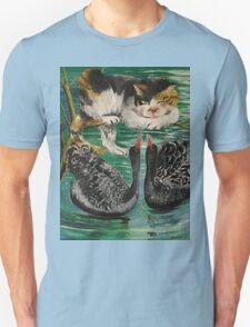 cat and black swan T-Shirt