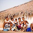 Girls of Macuti Town (IlhaMoç) by Tim Cowley