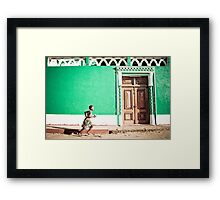 Girl at Green Mosque (IlhaMoç) Framed Print