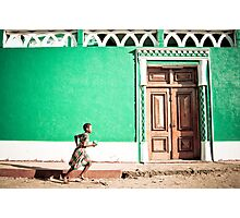 Girl at Green Mosque (IlhaMoç) Photographic Print
