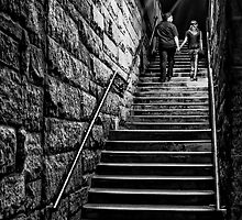 Couple on the Stairs by Karl Wittman