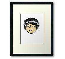 C flower boy Framed Print