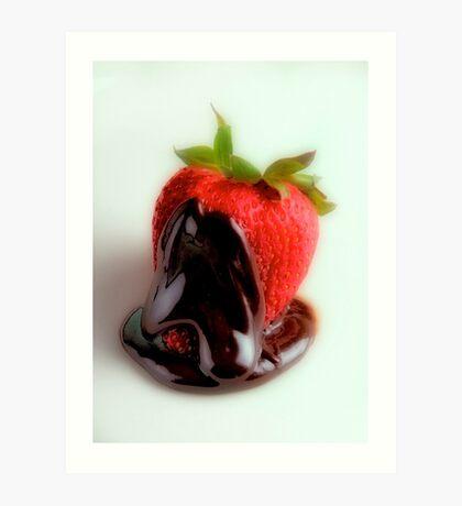 Strawberry Dip Art Print