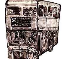 London Bus by Becks Boyd