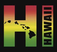 Big Hawaii HI - Rasta Surfer Colors One Piece - Long Sleeve