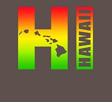Big Hawaii HI - Rasta Surfer Colors Unisex T-Shirt