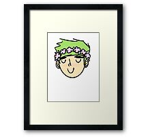 M flower boy Framed Print