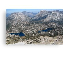 Eagle Cap Wilderness Lakes Mirrior & Moccasin  Canvas Print
