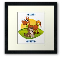 I Love My Pets Framed Print