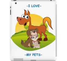 I Love My Pets iPad Case/Skin