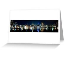 Docklands Panorama - Melbourne Greeting Card