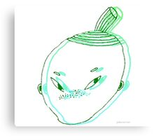 cute lil freckle faced nerd Canvas Print