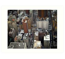New York City Streetscape Art Print