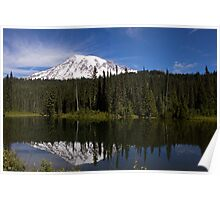 Mount Rainier at Reflection Lake Poster