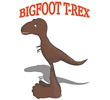Bigfoot T-Rex Photographic Print