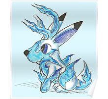 Ice Jackalope Poster