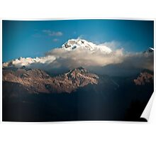 Peaking Through the Heavens - Annapurna South, Nepal Poster