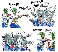 Zombies need Brains - Won't find them in Washington D.C. Photographic Print