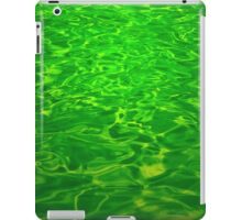 Green Emerald Water - Color Background and Texture iPad Case/Skin