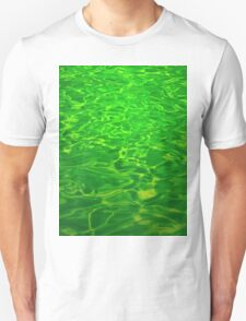 Green Emerald Water - Color Background and Texture Unisex T-Shirt