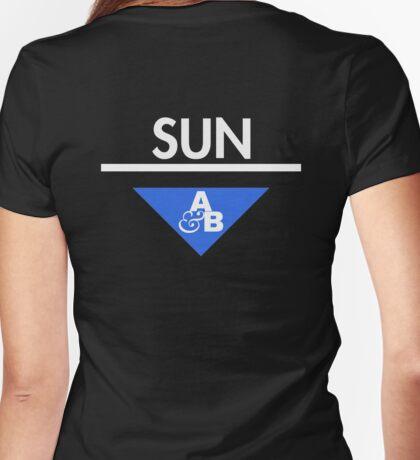 Sun&Moon: Sun Womens Fitted T-Shirt