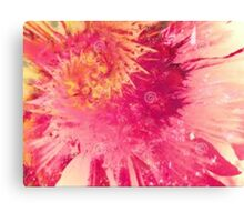 pink/ yellow tiedye Canvas Print