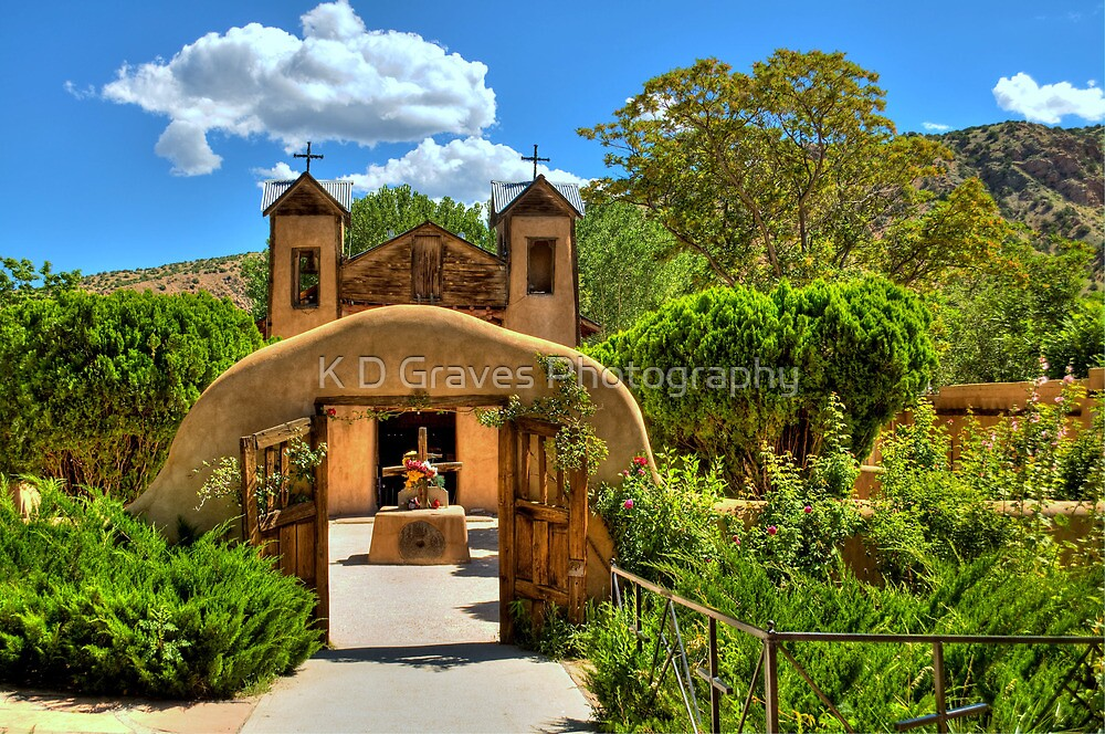 Santuario de Chimayó Church in New Mexico  by K D Graves Photography